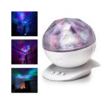 Sunvito LED night lamp with aurora borealis effect