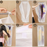 CrazySell Set of 2 Waterproof See-Through Garment Bag Clothes Cover Bag Duster Frosted Organizers