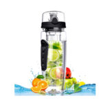 Fruit Infusing Water Bottle with Fruit Infuser Bottle On the Go   Drinking Spout   7 Colours