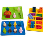 Joyoldelf Silicone Silly Candy Moulds & Ice Cube Trays for Building Bricks and Figures Lovers