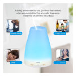 Oil Diffuser, Amir Aromatherapy Essential Oil Diffuser Ultrasonic Mist Air Humidifier with Color-Changing LED Lights