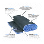 Yoga Mat Towel (24″ x 72″) – Microfiber Hot Yoga Mat Towel, Protect Your Yoga Mat and Improve Your Grip!