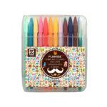 Plinrise MNM-300 Coloured Fineliner Drawing Pen 0.38mm, Set of 24 Colors