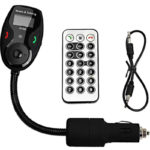 Mercurymall Hot Sell Car Kit Handsfree Bluetooth FM Transmitter Modulator MP3 Player LCD Display Flex