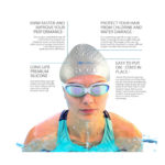 i-Swim Pro Swimming Cap – Silicone – Long Hair, Thick Or Short – Average/Large Heads – Increase Speed