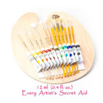 Daveliou Paint Brushes – 24 Brush Set – FREE Brush Holder – Oil Chalk Acrylic Watercolour Brushes