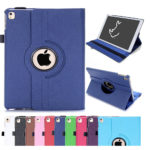 RC Leather 360 Degree Rotating Stand Case Cover for New iPad Air 2 (iPad 6, 6th Generation – Blue)
