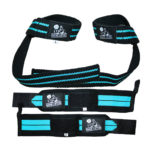 Wrist Wraps + Lifting Straps Bundle for Weightlifting, Crossfit, Workout, Gym, Powerlifting, Bodybuilding
