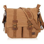 Veevan Unisex Vintage Canvas Shoulder Messenger Bag School Satchel Bag