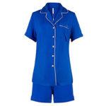 Ekouaer Women's Sleepwear Short Sleeve Pyjama Set with Pj Shorts