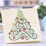 Craft Buddy Crystal Card Making Kit, Diamante Gems Rhinestones Christmas Gift E. Stocking