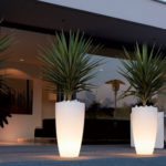 Pure Soft Round High LED Light Pot Ø40xH70cm