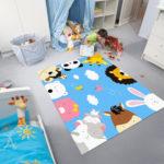 FADFAY Cute Cartoon Animal Print Rug Kids Rugs And Carpets