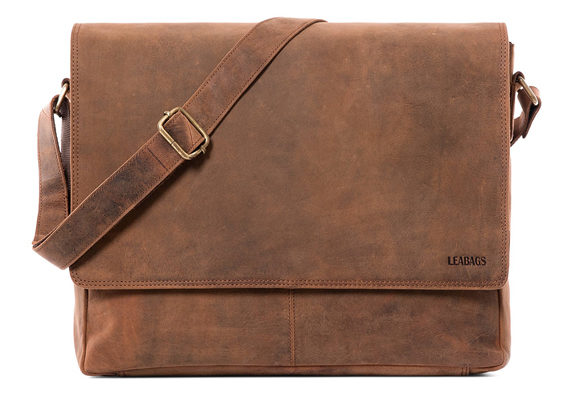 c30a72077 LEABAGS Oxford Buffalo Leather Vintage Style Leather Satchel Messenger Bag