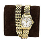 Michael Kors Womens Double-Wrap Lexington Watch MK3269