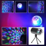 Rotating RGB LED 3D Effect Stage Light Party DJ Disco Lamp Dance Christmas New Year Home Party