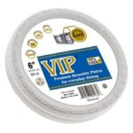 VIP Plates (TM) – 6 Inch Disposable Plastic Plates Microwave Safe Plates Plastic Disposable Plates.