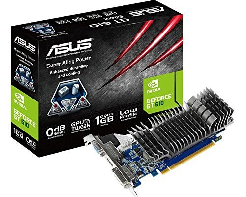 Asus Nvidia GeForce 1GB GT 610 Silent Graphics Card
