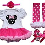 2017 Baby's Girl Infant 4pcs Clothing Sets Tutu Romper Dress Birthday Costumes for 3 Month