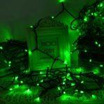 lederTEK Solar Powered LED Fairy String Lights Waterproof (Green)