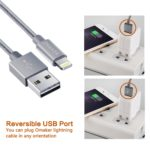 Reversible USB Port Omaker Lightning to USB Cable