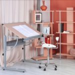 GreenForest Adjustable Drawing Work Study Table Desk White Bedroom Home Furniture