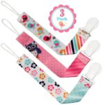 Universal Infant Pacifier Holder with Clips