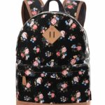 Douguyan Women's Allover Print Canvas Everyday Backpack Casual Daypack Schoolbag U133B Blue Rabbit