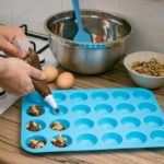 Joyoldelf Large Mini Muffin Pans – 24 Cup Jumbo Silicone Pan for Cupcakes and Premium Baking – Blue