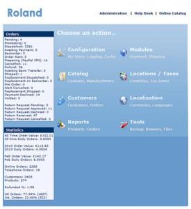 Ecommerce CMS AdminScreen