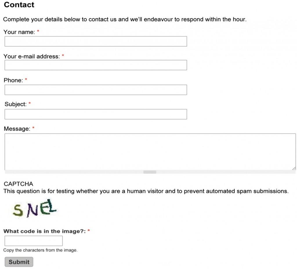 Ecommerce-Contact-Form
