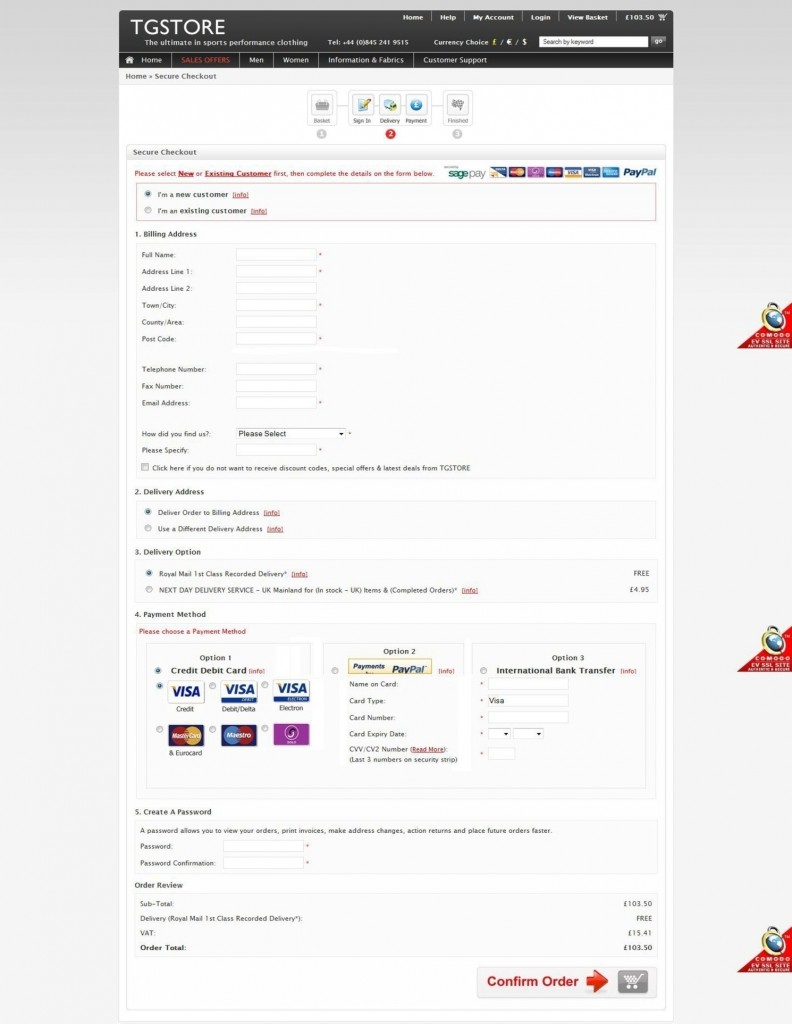 Ecommerce 1-Page Checkout