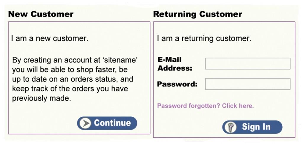 Ecommerce Account Box