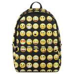 Veevan Cute Emoji Designer Backpacks Kids School Book Bags (Black)
