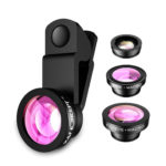 K&F Concept Ultra-Clear Colour Coating Mobile Phone Lens Fish Eye Lens + Wide Angle Lens