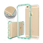 iPhone 6S Case, iPhone 6 Case, ESR Protective Bumper Case with Clear PC Hard Back Cover + Soft TPU Edge for 4.7 inches iPhone 6/6S (Mint Green)