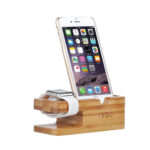 Apple Watch Stand, IVSO Bamboo Charging Dock Apple Watch Charging Stand