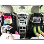 IPad Back Seat Travel Organiser, Waterproof Kick Mats Universal Car Seat Back Cover Protector