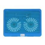 KKmoon Laptop Cooler Notebook Cooling Pad 2 Fans with Blue LED Light for 12 in to 15 in Laptop Notebook