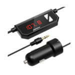 Mpow Streambot Oval FM Transmitter Wireless Radio Car Kit 3.5mm Audio Connector, Car Charger Adapter