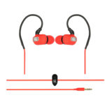 Urbanz STRIVE Running Cycling Workout Sports Gym Earhook Headphones Earphones (Red)