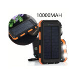 VivoStar 10000mAh Solar Charger Dual USB Port Portable Shockproof Rainproof External Battery Power Bank
