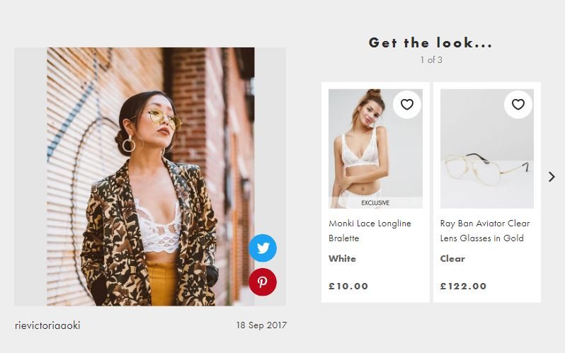 ASOS user-generated shoppable content