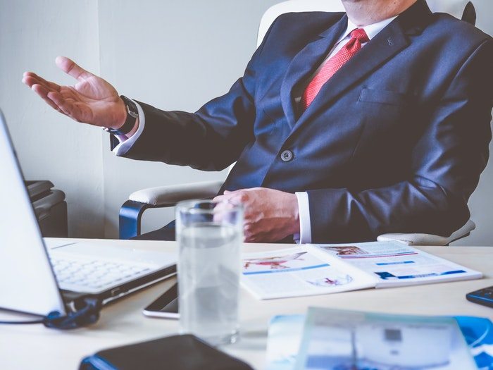 a meeting with a financial advisor