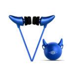fitTek EMIE Devil Horn Wired In-Ear Noise Isolating Headphones – Blue