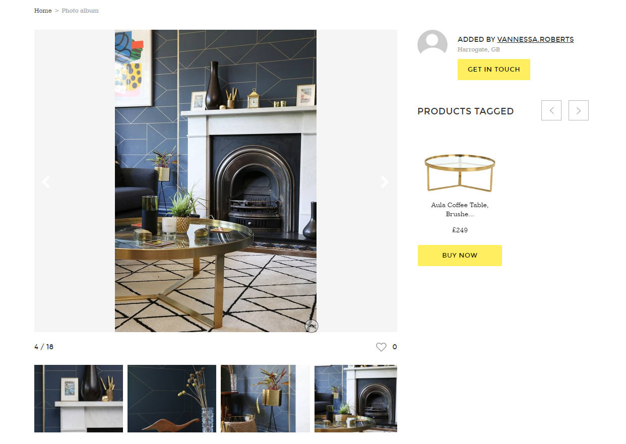 Made.com user-generated shoppable content