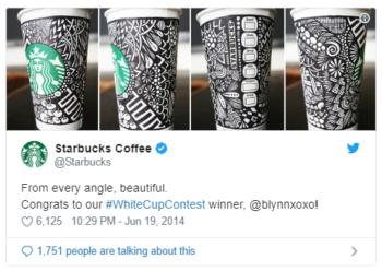 White Cup Contest - Starbucks - UGC